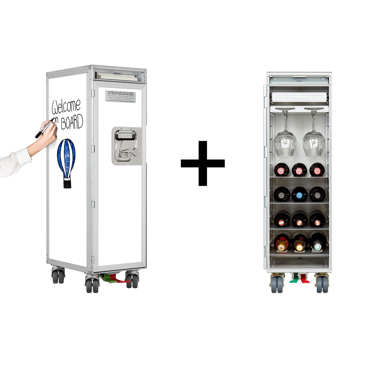 Trolleypaket Whiteboard inkl. Wein & Genuss Ausstattung