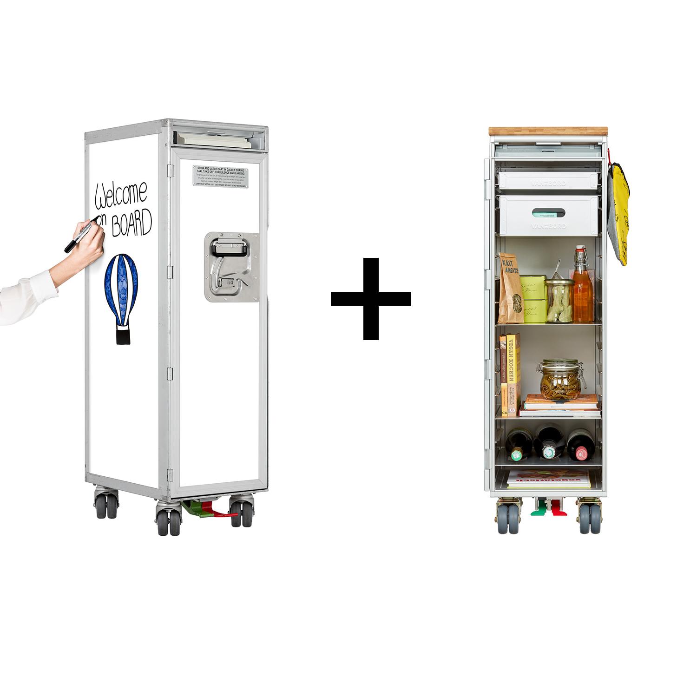 Trolleypaket Whiteboard inkl. Küche & Grill Ausstattung